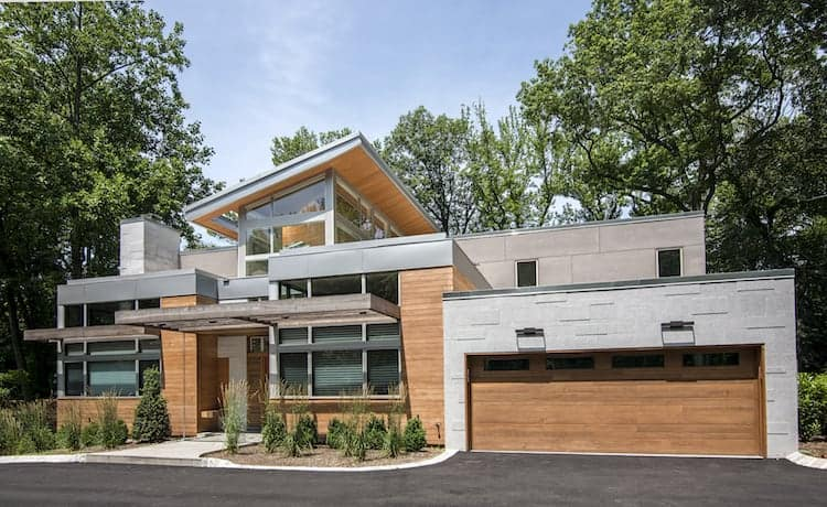 Robert Gross AIA house with Northern White Cedar