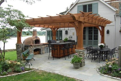Reclaimed Red Cedar Pergola